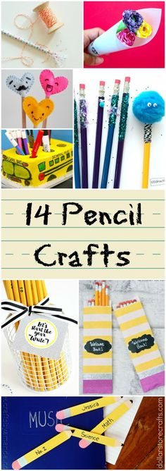 14 Easy Pencil Crafts for Kids. Have fun crafting for school with these simple kids craft ideas.