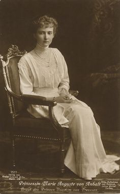 "Marie Auguste Antoinette Friederike Alexandra Hilda Luise of Anhalt (can you say ""identity crisis""?)"