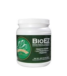 Giddyap Girls® BioEZ™ 32 oz. Is a multi-enzyme blend of Live Probiotics, Digestive Enzymes, Prebiotic Energizers - formulated for Horses - to improve digestion and increase nutrient absorption from their diet. BioEZ™ promotes healthy digestion and uptake, improves immunity and may help reduce incidences of colic. It is a highly palatable, powdered top dress that can be fed in combination with other feed premixes or vitamin and mineral formulas.