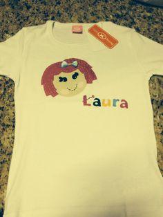Camiseta Lalaloopsy, com Patch apliquê