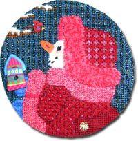 Pretty in pink --Old World Designs Snowmen 2009