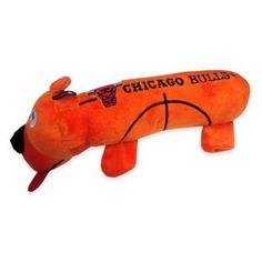 d6549b984 Official NBA Chicago Bulls Basketball Dog Pet Toy Multi