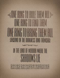 Lord Of The Rings Ring Quote Second Breakfast Quote Art Print  Pinterest  Quote Art Hobbit And .