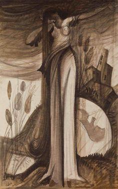 Γεώργιος Κόρδης:Κάνε τον πόνο σου Άρπα, Inks on Lokta paper, 55x75 cm, 2008
