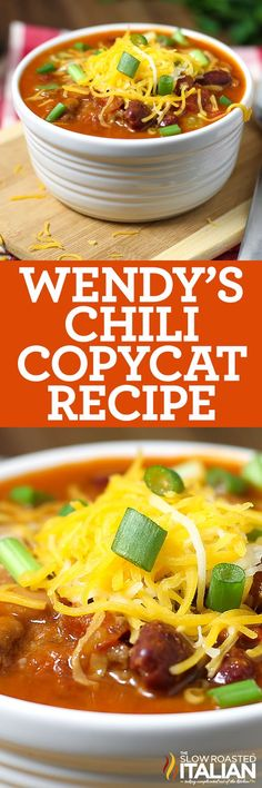 Wonderful Free of Charge Wendy's Chili Copycat (With Video) Style Today I'm. Wonderful Free of Charge Wendy's Chili Copycat (With Video) Style Today I'm planning showing Best Soup Recipes, Chili Recipes, Copycat Recipes, Mexican Food Recipes, Crockpot Recipes, Dinner Recipes, Cooking Recipes, Favorite Recipes, Cooking Chili