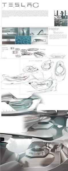 Future Concept: TESLA vision C. An autonomous Interior concept for 2040