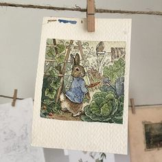 """""""But Peter, who was very naughty, ran straight away to Mr. McGregor's garden"""" Beatrix Potter has had a huge influence on my own body of work; her life is such an inspiration, and her imaginative and detailed observations of nature still astound me - if I could sit down and have tea with anyone, it would definitely be her. ✨Shop update today at 6pm PST✨ (link in profile)"""