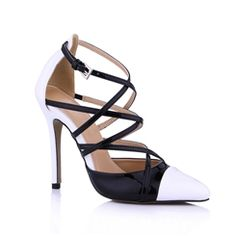 $ 63.99 Charming Patent Leather Stiletto Heel Closed Toe Pumps