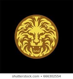 Vector de stock (libre de regalías) sobre Medal Lion Gold Symbol666302554