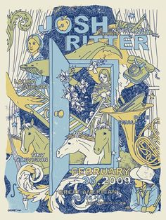 Josh Ritter Noise Pop Americana Royal City Band by gigart on Etsy