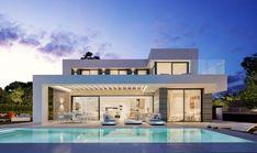 Villa Plus, Morden House, Modern Villa Design, Villa With Private Pool, Malaga, Spain, Mansions, Modern Living, Village Photography
