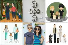If you want the most special gift ever, check out this remarkable array of artists, all making custom illustrated family portraits with very modern styles.