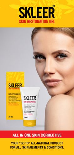 SKLEER ALL IN ONE SKIN CORRECTIVE is the ultimate skin conditioner.  Regardless of whether your skin is dry, normal or oily, use SKLEER ALL IN ONE SKIN CORRECTIVE.  SKLEER smoothes the appearance of lines and wrinkles, refines texture, and evens skin tone for a fresher and more youthful appearance.  SKLEER ALL IN ONE SKIN CORRECTIVE contains Tea Tree Oil an ingredient acclaimed for naturally treating acne prone skin.  SKLEER nourishes, moisturises and protects dry skin.