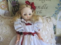 Sweet Effanbee 1966 Doll In Red Dress and by Daysgonebytreasures, $18.00