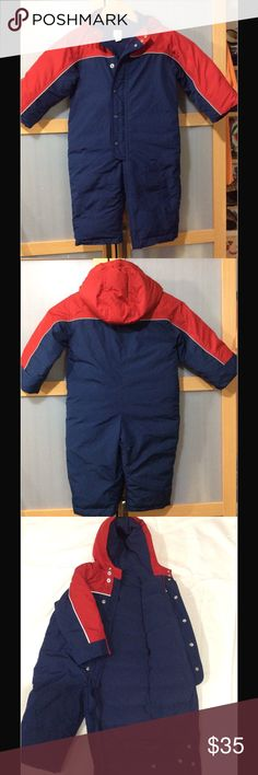 Gap Baby Down-polyfill blend snow suit ☃️❄️ EUC, full fleece lining, elasticized cuffs and legs. Zipper and snap-tab closure. Machine washable. Super warm for those chilly days🌨❄️⛄️🌬 Baby Gap Jackets & Coats Puffers