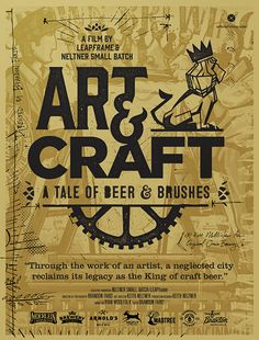 """Print design for the """"Art & Craft: A Tale of Beer & Brushes"""" documentary."""