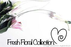 Fresh Floral Mockups | Styled Stock by Lindsey Gillian Design on @creativemarket