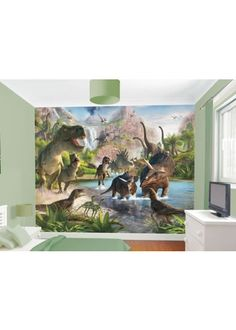 The Dinosaur Mural - Wall murals that add the WOW factor to add to a child's bedroom or playroom. Wall murals Ireland - by wallmurals. Kids Wall Murals, Murals For Kids, Mural Wall, Playroom Mural, Art Kids, Bedroom Themes, Kids Bedroom, Bedroom Decor, Bedroom Ideas