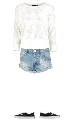 """""""cute"""" by miakaly on Polyvore featuring One Teaspoon and Vans"""