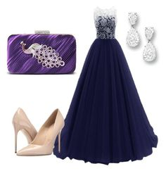 """gala"" by nainkaba on Polyvore featuring Jacki Design and Massimo Matteo"