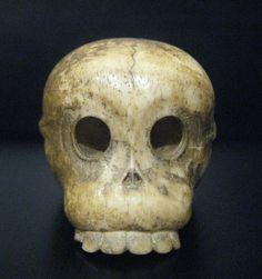 Japanese Whalebone Netsuke of a Human Skull.