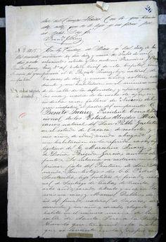 Acta de Defunción de Benito Juárez (1872) 1/2