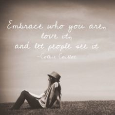 """Although it isn't easy, I believe that it would behoove each of us to take note from Miss Colbie Caillat and dance to the beat of our own drummer, """"embrace who you are, love it, and let people see it."""" This mentality would do a world of good for our emotions, our happiness, and our planet. """"Express yourself"""" in a conscientious way, and rock a style that is true to your spirit--Employ practices that are sustainable, responsible, and kind (Reduce, Reuse, Repurpose, Upcycle) #Diary #Journal #Lyrics #ColbieCaillat #SelfLove #Love #Original #Independent #ExpressYourself #BeYourself #DontBeACopy #Style #Fashion #Beauty"""