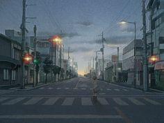 sci fi street / cyberpunk / cityscape
