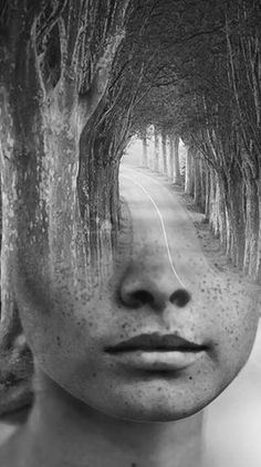photo manipulation by Spanish-based artist © Antonio Mora (a.k.a. Mylovt) blending human and nature images into surreal hybrid artworks mylovt.com