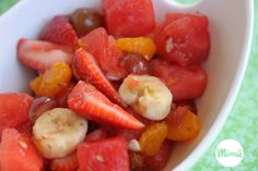 Lime Kissed Fruit Sald | Mimi's Fit Foods - My most favorite way to serve (and eat) fruit.  So easy, so fresh, and sooooo deeeelish!