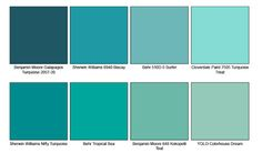 Turquoise Paint chips.  Turquoise would be a great accent color.  Turquoise is…