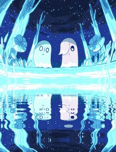 Napstablook and Ghost!Mettaton, best cousins - This art is GORGEOUS! (Undertale)