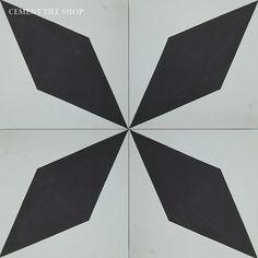 Cement Tile Shop - Handmade Cement Tile   Diamond Black