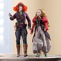 Alice and Mad Hatter Limited Edition Doll Set - Alice Through the Looking Glass - 17''