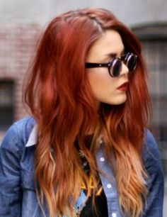 Emma Stone red and blonde ombre hair | beauty | Pinterest | Blonde ...