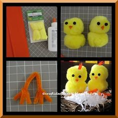 Easy Easter Baby Chick Craft