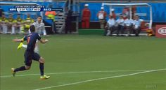 Pin for Later: The 13 Craziest World Cup Moments, in GIFs That Amazing Goal by Robin van Persie (aka the Flying Dutchman) Source: ESPN