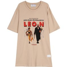 WIDE FIT LEON T SHIRT (BEIGE) ❤ liked on Polyvore featuring tops, t-shirts, dresses, beige t shirt, pink top, beige top, pink tee and pink t shirt