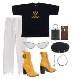 """""""VINTAGE GUCCI FT MARC"""" by mimiih ❤ liked on Polyvore featuring Gucci, Marc Jacobs, Adam Selman, Simon Miller, vintage, AlexanderWang, louisvuitton, marcjacobs and gucci"""
