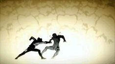 Anticipation is being used as they both wind up their actions before making contact with the target. It is using key frames and cel shading and computer animation. This animation is computer-generated Animation Storyboard, Computer Animation, Animation Reference, Art Reference, Jump Animation, Frame Animation, Design Reference, Pixel Art, Character Art