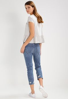 Q/S designed by T-shirt z nadrukiem - light grey melange - Zalando.pl