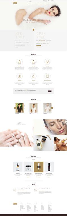 Bleute - Beauty   Spa   Hair   Wellness/Salon PSD - PSD Templates   ThemeForest