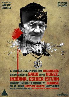 Transylvania Slam Poetry competition @ Moszkva Café #Oradea Poster design by Domokos Zsolt