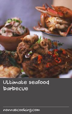Ultimate seafood barbecue | Is there anything better than fresh seafood? It's best to go to the fish market to have a good look at everything and then decide what to get. I would often use mud crabs for this recipe but if blue swimmer crabs are available they're great too. It's a bit fiddly to eat but definitely worth it! Barbecued Fish Recipes, Crab Meat Recipes, Best Seafood Recipes, Fig Recipes, Barbecue Recipes, Best Fish Batter, Fish Batter Recipe, The Fish Market, Battered Fish