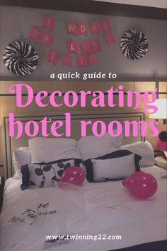 Pin by margaret carames stone on ideas hotel party for Hotel room decor for birthday