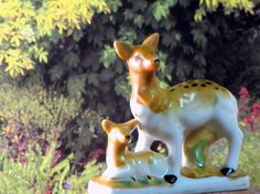 Vintage Ceramics  Doe and Fawn Figurine Collectible by recreated1, $6.00
