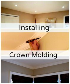 Installing crown molding in the master bedroom. http://www.chatfieldcourt.com
