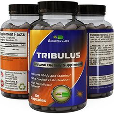 Tribulus Terrestris Extract - Pure Source of Energy (Extremely Potent Formula) - Increases Testosterone