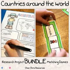Are you looking for some engaging activities to work with your students on geography and culture ? This bundle includes a research project and 3 matching games. L'article Countries Around the World Bundle est apparu en premier sur Chez Chris. Around The World Games, Countries Around The World, Around The Worlds, Esl Resources, School Resources, Research Projects, Matching Games, Thematic Units, Interactive Activities