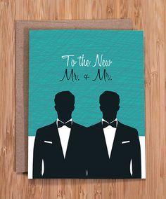 gay wedding card / mr and mr by ModernPrintedMatter on Etsy, $3.50